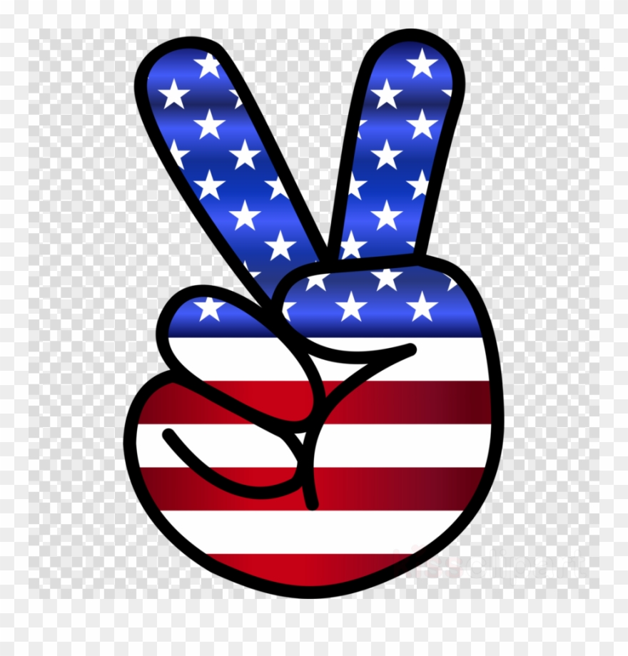 Clipart flag symbols picture royalty free stock Download Peace Sign Hand Clip Art Clipart Peace Symbols - American ... picture royalty free stock