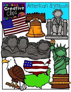 America symbols clipart png freeuse stock American Symbols and Monuments {Creative Clips Digital Clipart} png freeuse stock