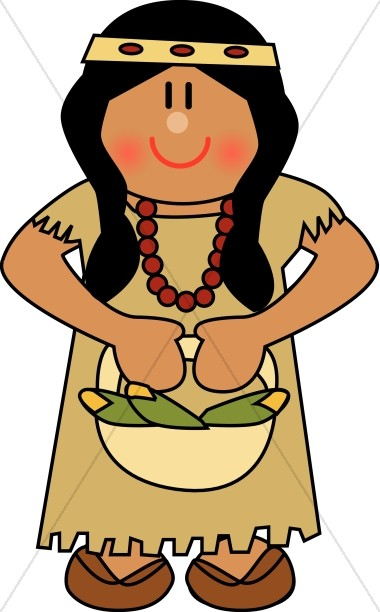 Native american woman clipart svg freeuse stock Cute Native American Woman | Thanksgiving Clipart svg freeuse stock