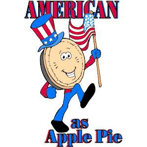 American as apple pie clipart