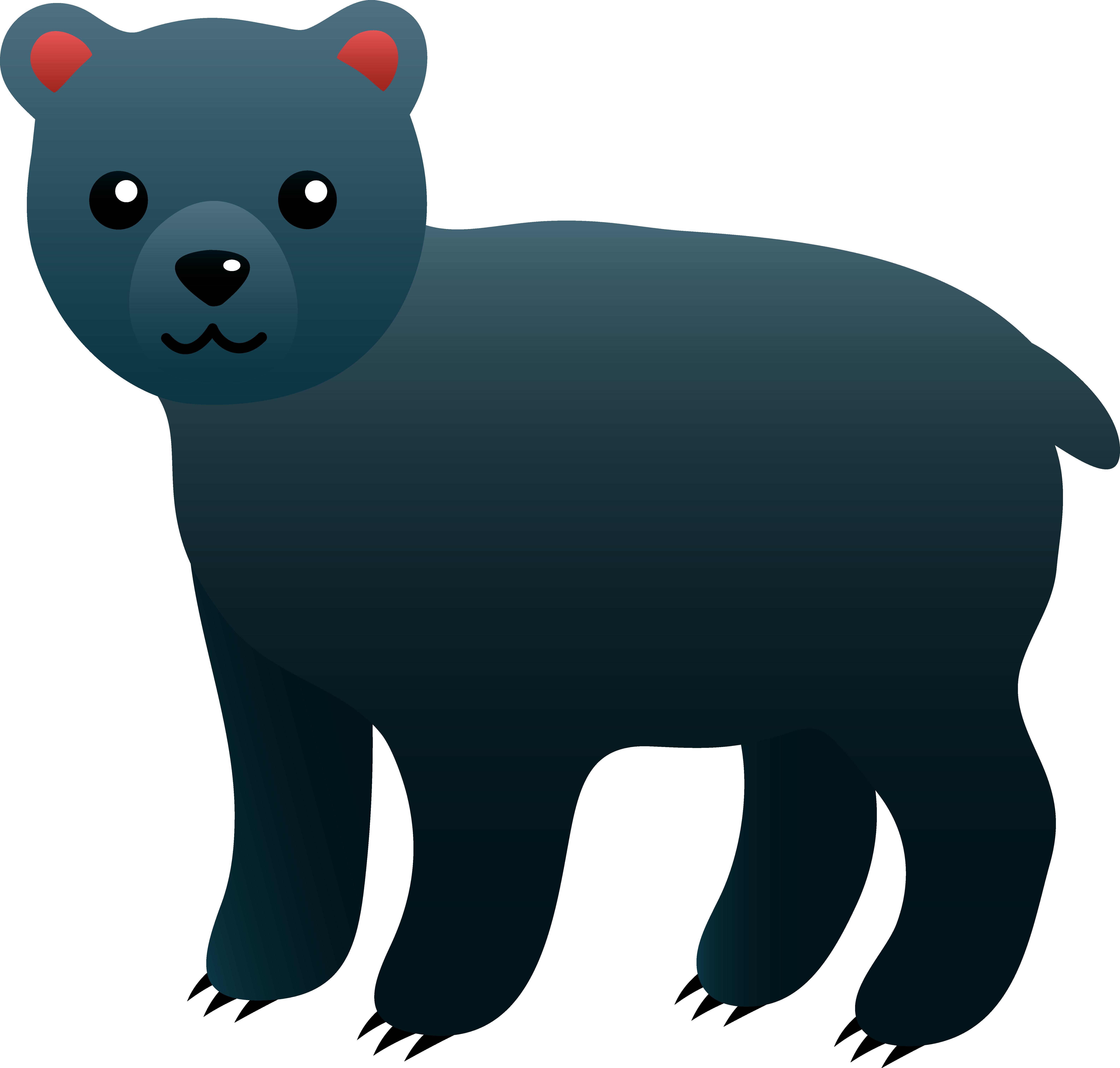 American black bear clipart jpg free stock Cute Black Bear - Free Clip Art jpg free stock