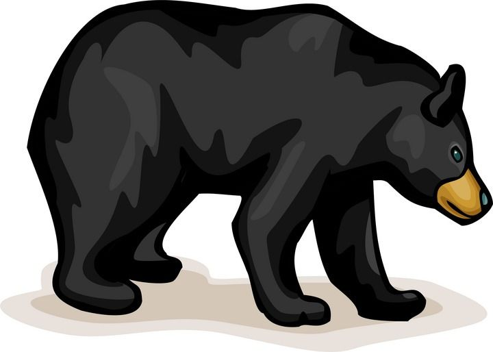 Chic bear outdoor clipart black and white vector freeuse Free Bear Clipart | bears | Bear clipart, Bear silhouette, Clip art vector freeuse