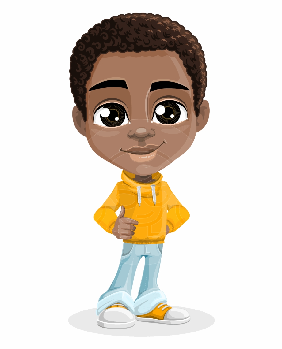 American boy clipart graphic freeuse download Jorell The Playful African American Boy - African American Cartoon ... graphic freeuse download