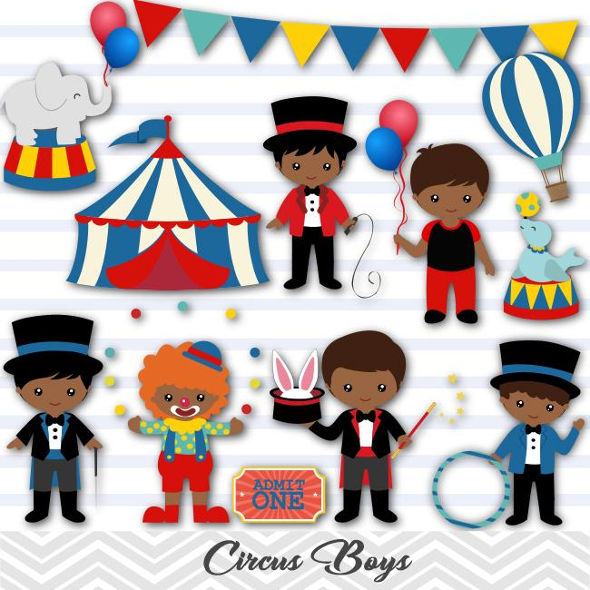 American boy clipart svg royalty free library African American Circus Clip Art, Circus Boys Clipart, Carnival Clipart,  00223 svg royalty free library