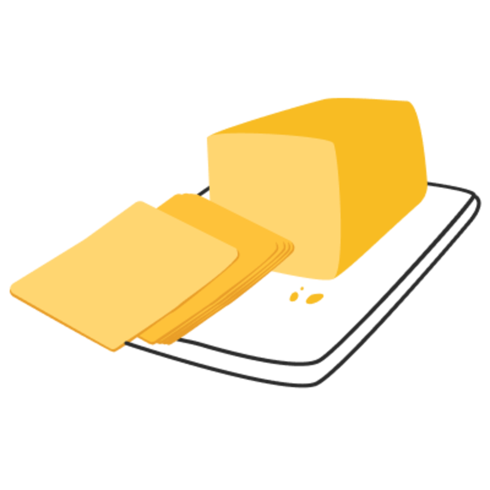 American cheese clipart clip art stock Sliced Cheeses - Mylk Guys clip art stock