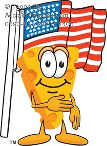 American cheese clipart jpg freeuse library Clipart Cartoon Cheese With the American Flag jpg freeuse library
