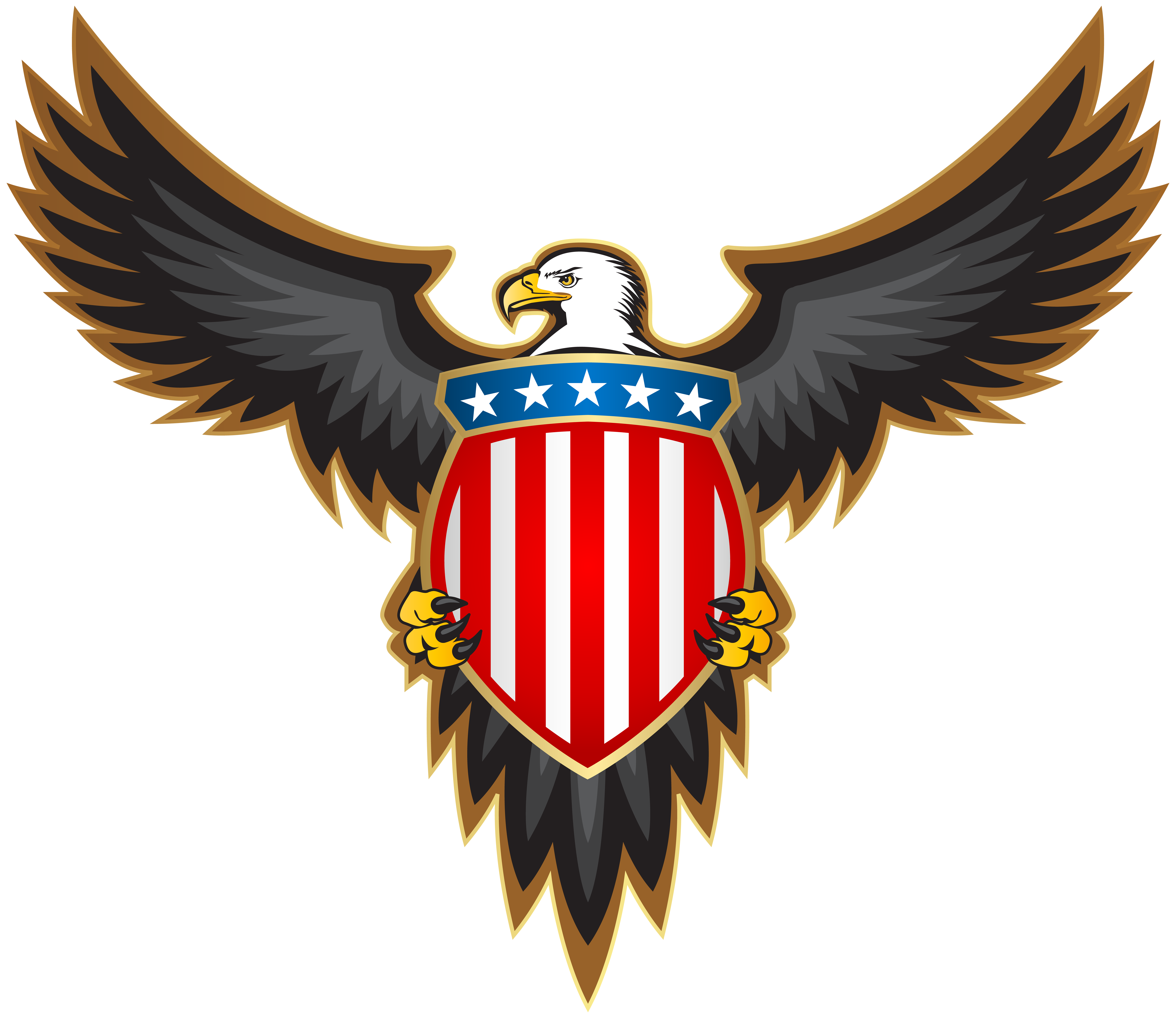 American crest clipart picture free download Eagle with American Badge PNG Clip Art Image | Gallery Yopriceville ... picture free download