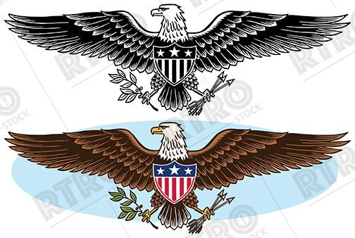 American eagle emblem clipart freeuse stock An American eagle patriotic graphic symbol vintage retro clip art ... freeuse stock