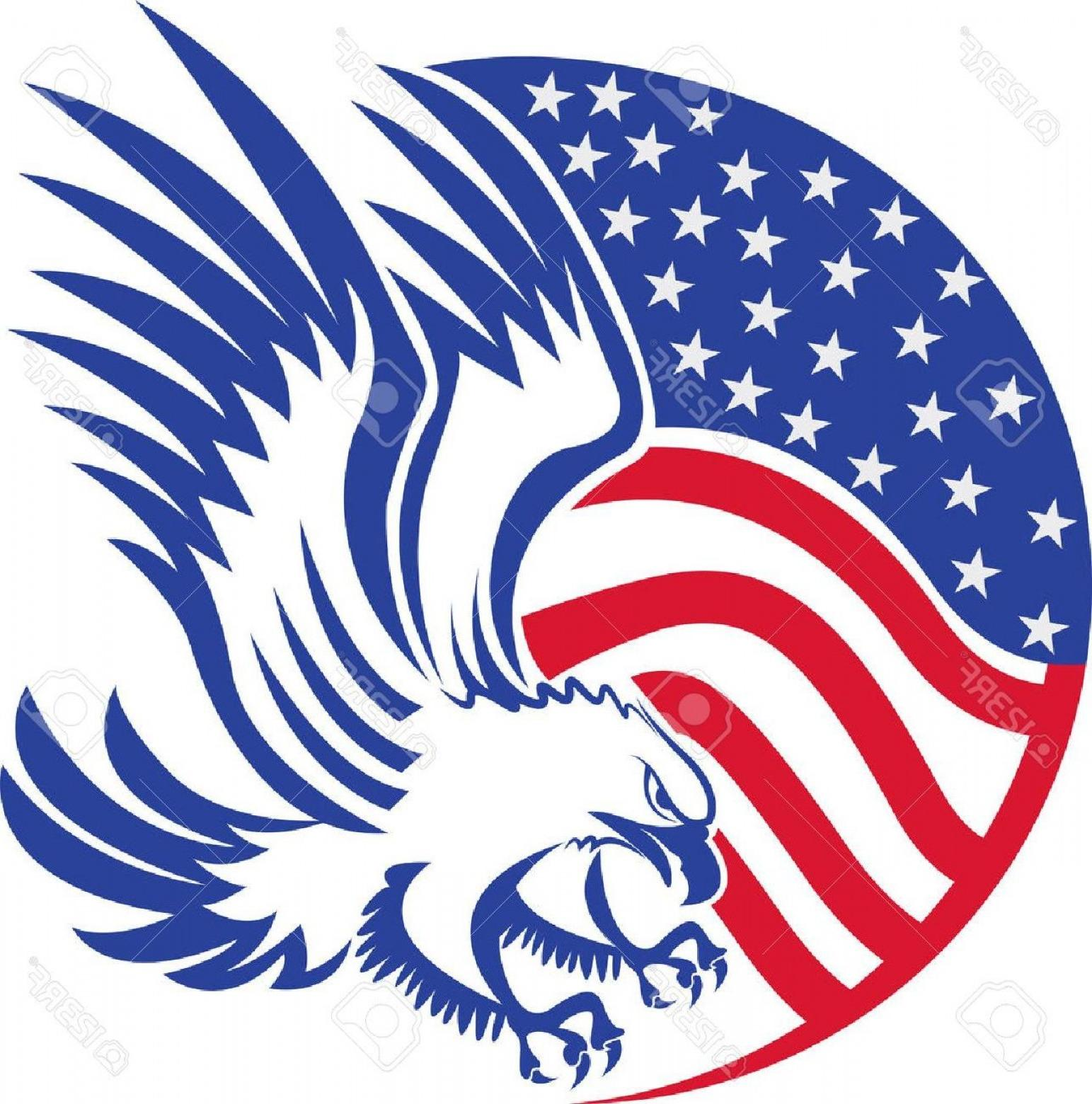 Clipart american flag eagle clip royalty free HD Bald Eagle With American Flag Sketches Vector Pictures » Free ... clip royalty free