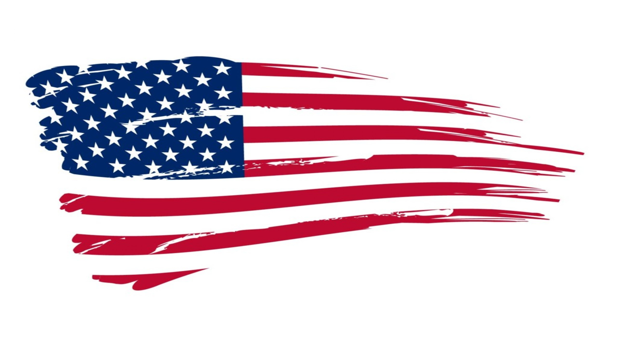 American flag vertical clipart