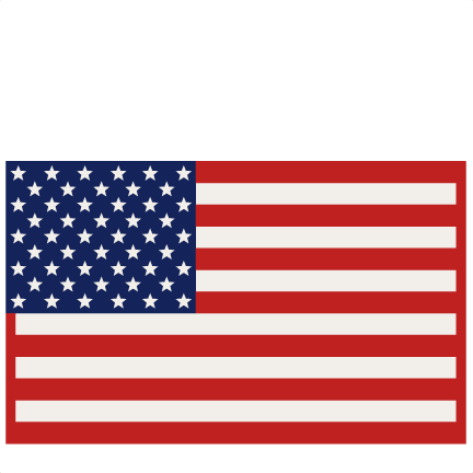 American flag drawing clipart