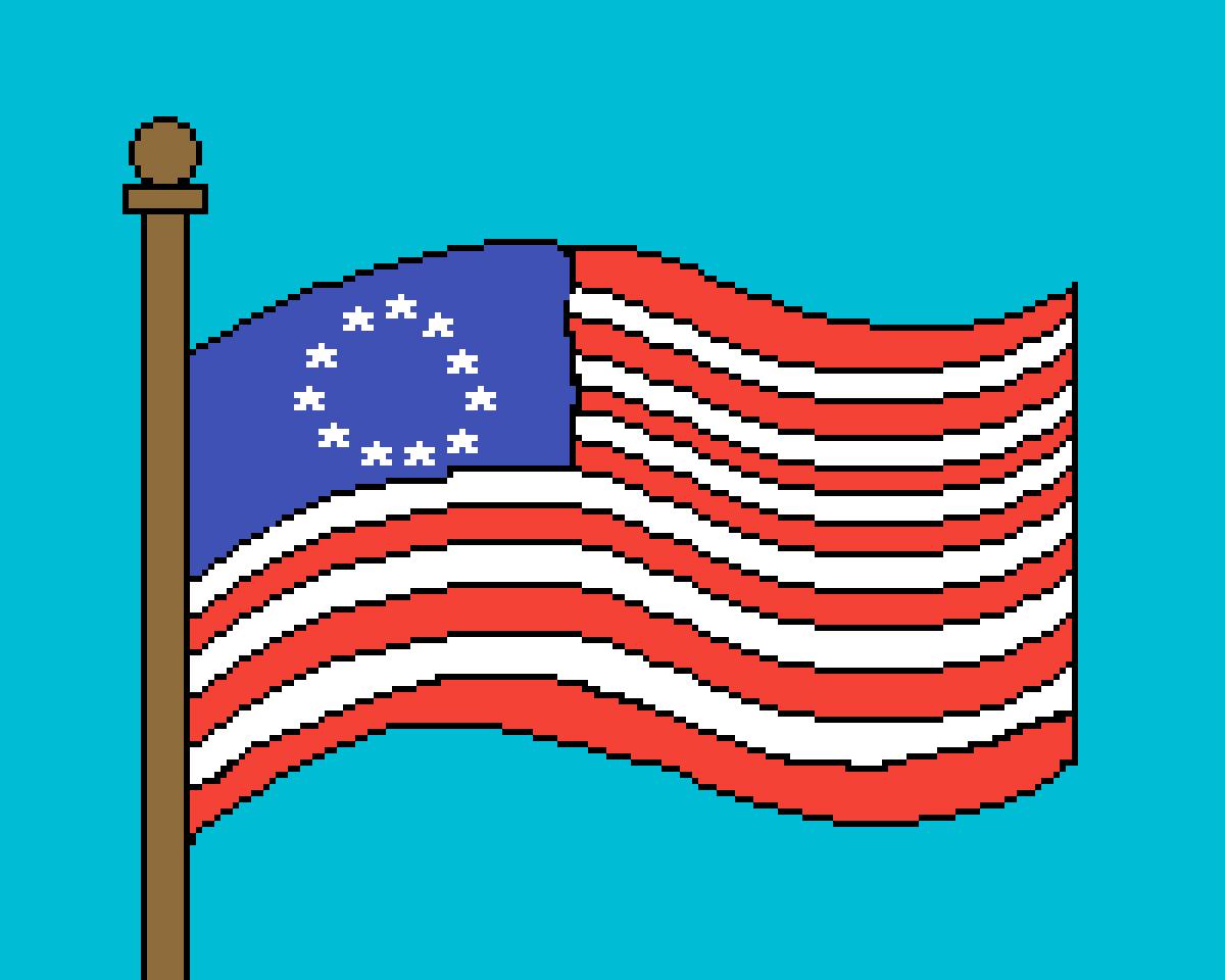 American flag 1776 clipart clip art freeuse stock Pixilart - American Flag from 1776 by Cosmos16 clip art freeuse stock
