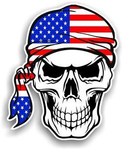 American flag bandana clipart vector royalty free library Details about Skull With HEAD Bandana American Stars & Stripes US Flag  vinyl car sticker decal vector royalty free library