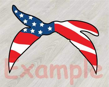 American flag bandana clipart png library Cow USA Flag Bandana Silhouette SVG clipart American 4th July 835S png library