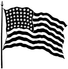 Free clipart american flag black and white vector Free American Flag Clip Art Black And White, Download Free Clip Art ... vector