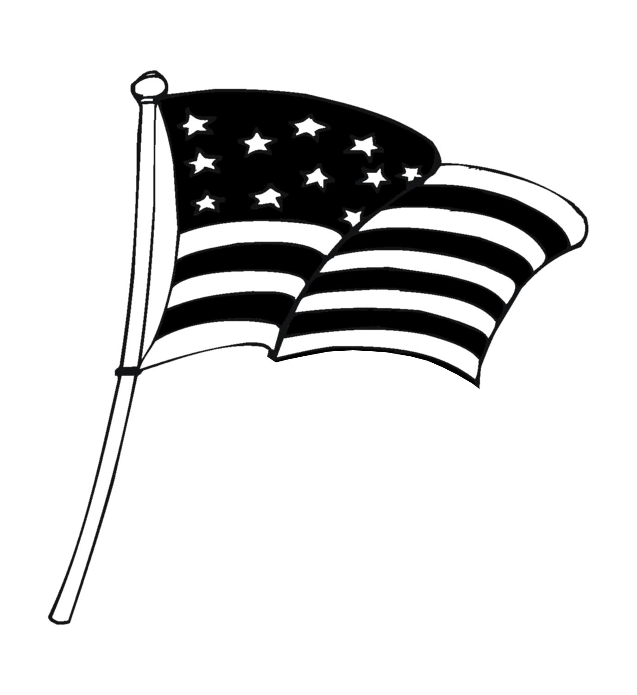 American flag black and white clipart free jpg transparent library Flag clip art free black and white clipart 2 - ClipartBarn jpg transparent library