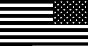 Free clipart american flag black and white clipart transparent Black And White American Flag Clipart | Free Images at Clker.com ... clipart transparent