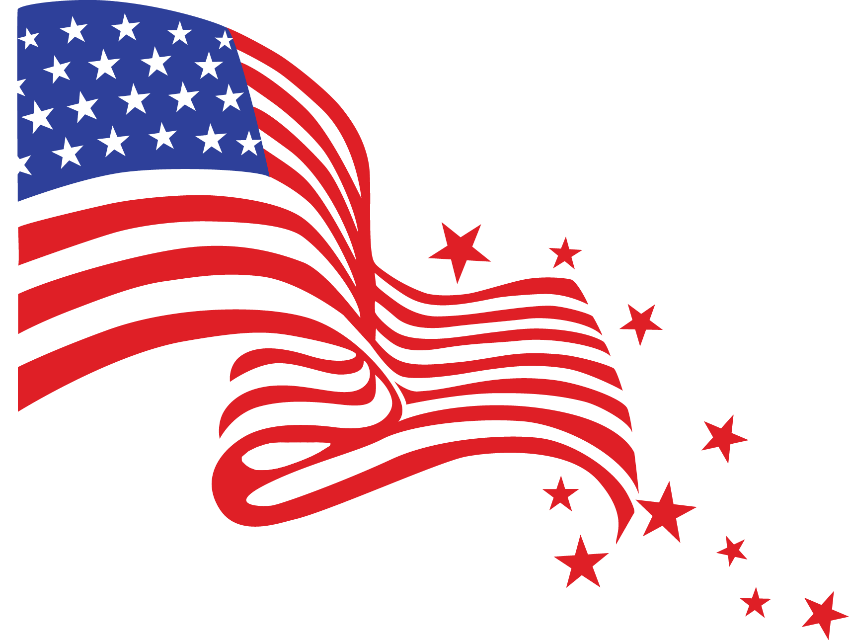 American flag horseshoe clipart