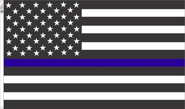 American flag clipart colorless clip black and white library USA Style Thin Blue Line Flag from Flags Unlimited | US Flags clip black and white library