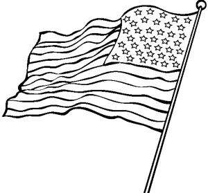 American flag clipart colorless vector free stock Realistic American Flag Coloring Page | Kids Colouring Pages | Flag ... vector free stock