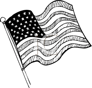American flag clipart colorless picture royalty free library clip art usa flag outline | Royalty Free Clipart of United States ... picture royalty free library
