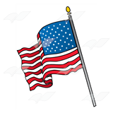 American flag clipart pdf vector library library Waving American Flag vector library library