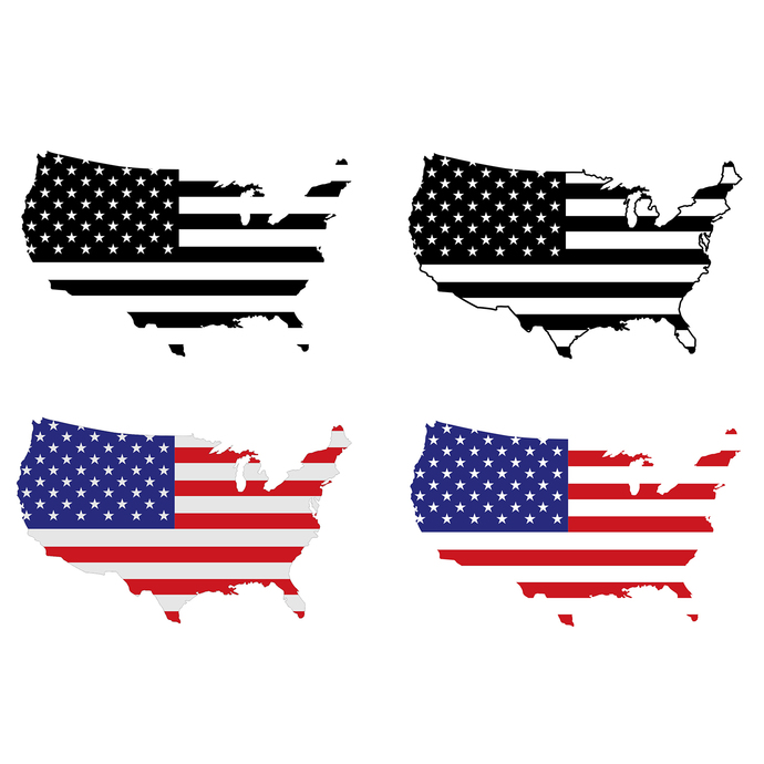 American flag clipart design vector transparent American Flag Usa Logo Map Design SVG DXF EPS Png Cdr Ai Pdf Vector Art,  Clipart instant download Digital Cut Files, Wall decal, Vinyl vector transparent