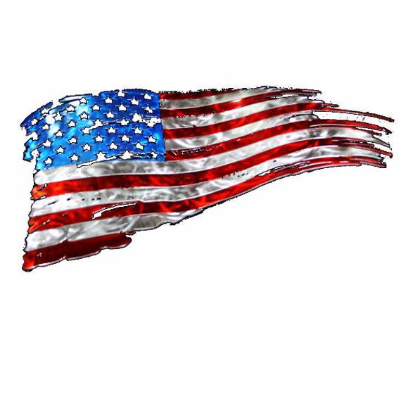 American flag clipart torn png black and white stock Tattered American flag, American flag wall art, Metal flag, Rustic ... png black and white stock