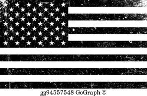 American flag clipart torn jpg black and white download Black And White American Flag Clip Art - Royalty Free - GoGraph jpg black and white download