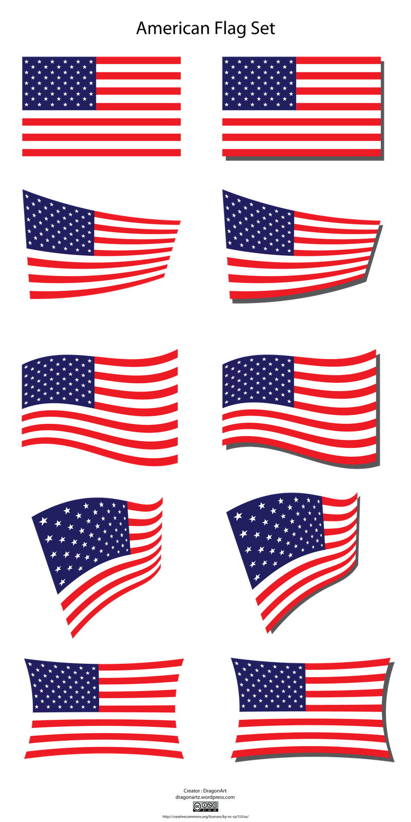 American flag clipart vector free image transparent Us flag clipart vector - WikiClipArt image transparent