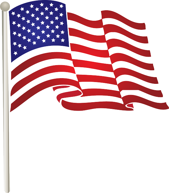 American flag clipart vector free free stock Pin by Sally Carpenter on America   American flag clip art, Flag ... free stock