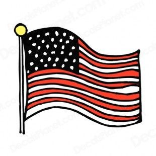 American flag drawing clipart graphic free library United States Flag Drawing | United States flag waving drawing ... graphic free library