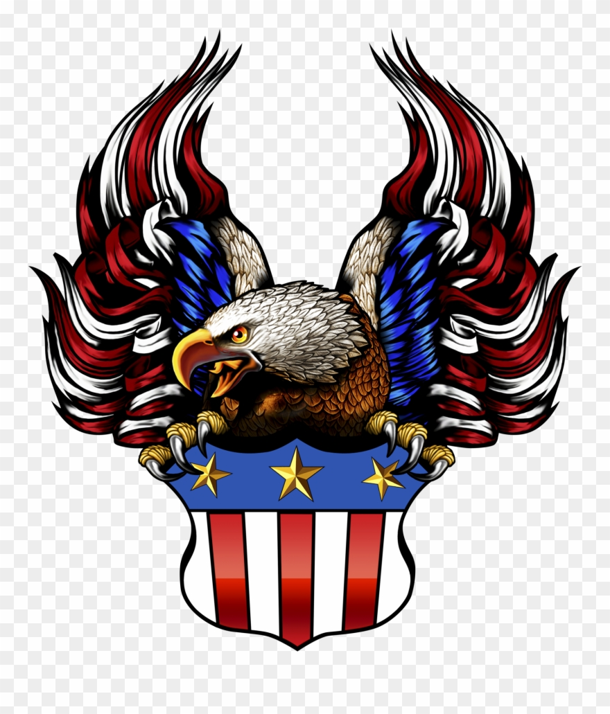 American flag eagle clipart svg library download American Flag Eagle Png Black And White Download - Eagle With ... svg library download
