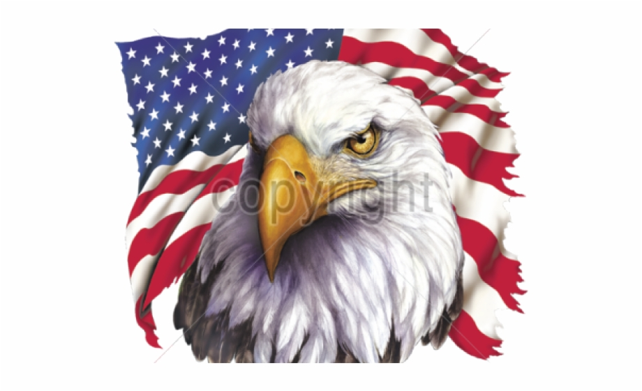 Free clipart american flag and eagle graphic black and white download Bald Eagle Clipart Patriotic - Crying Eagle American Flag - bald ... graphic black and white download