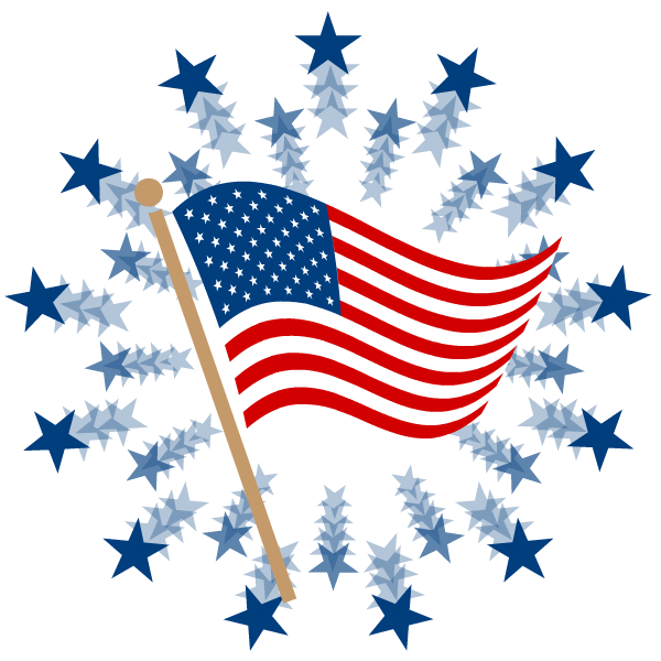 American flag fireworks clipart banner transparent stock Free Fourth of July Clipart | America | American flag clip art, 4th ... banner transparent stock