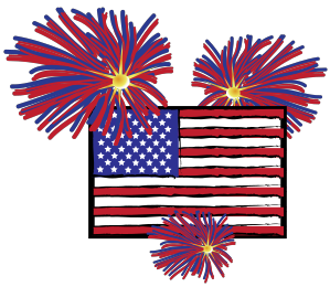American flag fireworks clipart vector free stock American flag with fireworks clipart images gallery for free ... vector free stock