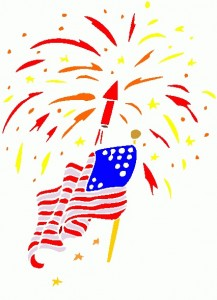 American flag fireworks clipart jpg black and white download Fireworks clipart american flag free - WikiClipArt jpg black and white download