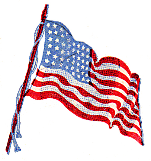 American flag hanging clipart vector black and white library Waving american flag hanging on a pole clipart - Clip Art Library vector black and white library