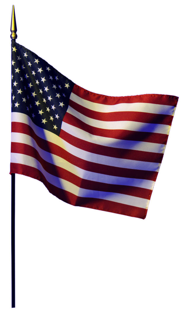 American flag hanging clipart image freeuse library Waving american flag hanging on a pole clipart - Clip Art Library image freeuse library