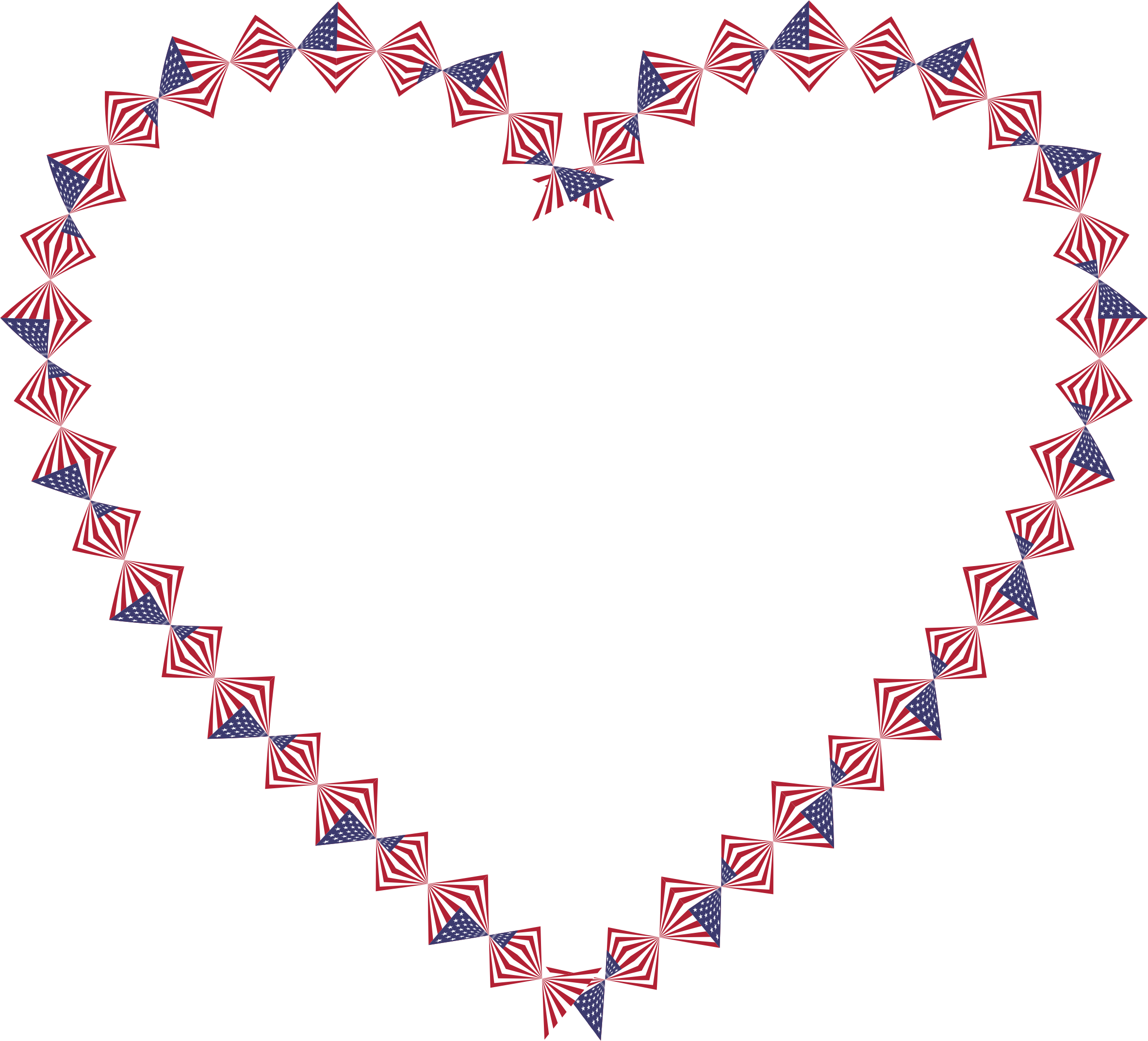 American flag heart clipart clip royalty free download Clipart - American Flag Twist Heart clip royalty free download