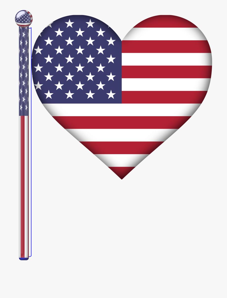 American flag horseshoe clipart jpg stock Clipart - American Flag Heart , Transparent Cartoon, Free Cliparts ... jpg stock