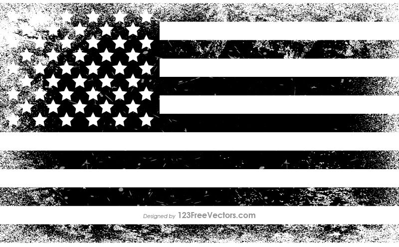 American flag in country clipart black and white svg freeuse download Black and White Distressed American Flag | USA Flags in 2019 | Black ... svg freeuse download