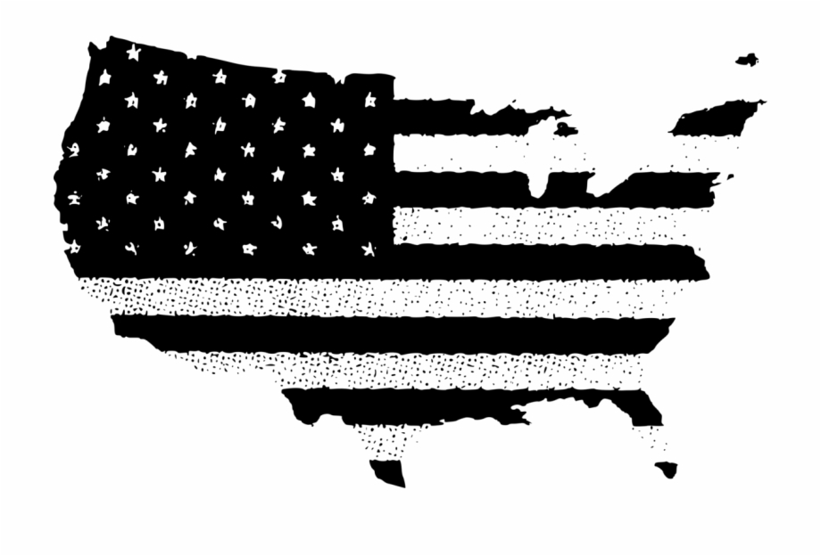 American flag in country clipart black and white banner freeuse library Flag Of The United States Vector Map - Usa Flag In Country Png Free ... banner freeuse library