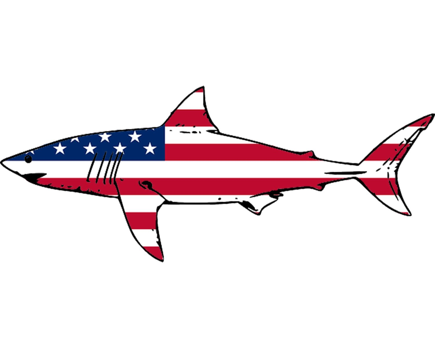 American flag red fish clipart png free stock Rogue River Tactical Shark Fish USA Flag Sticker Decal Fishing Bumper  Sticker Fish Patriotic United Auto Decal Car Truck Boat RV Real Life Rod  Tackle ... png free stock