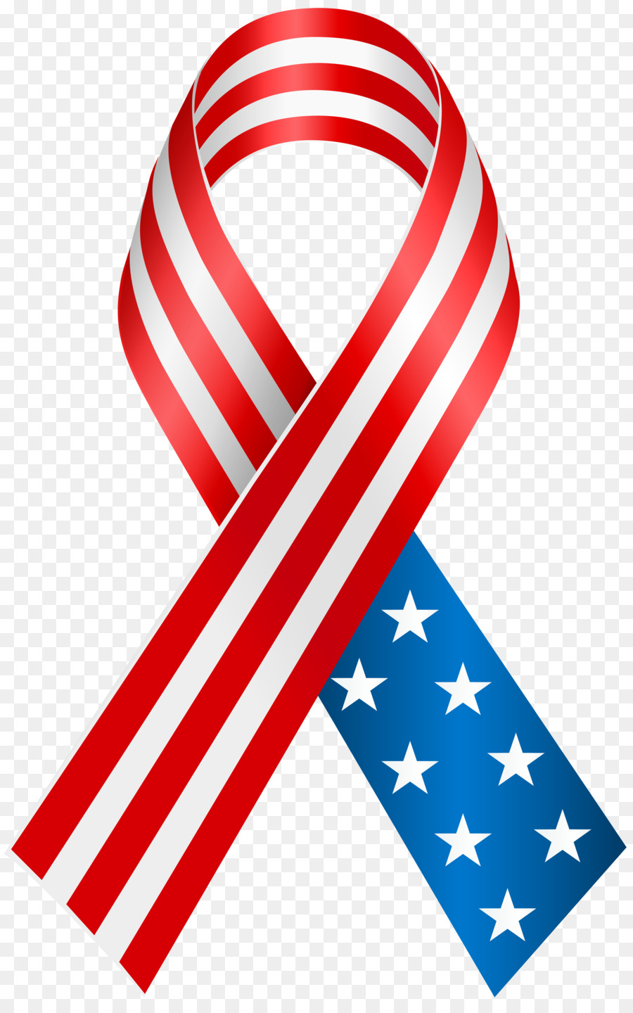 American flag ribbon clipart transparent