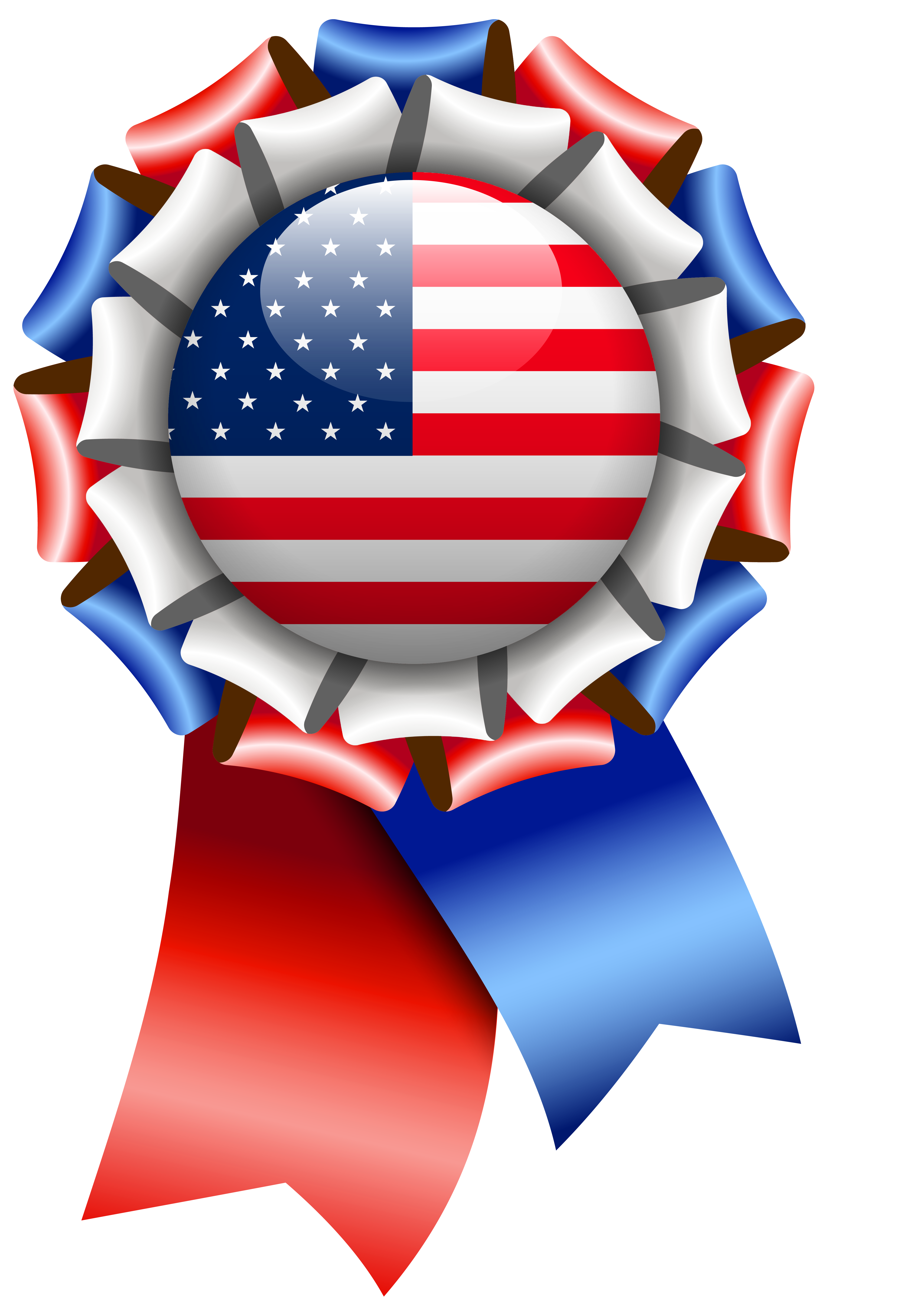 American flag ribbon clipart transparent jpg free stock USA Flag Rosette Ribbon PNG Clipart Image | Gallery Yopriceville ... jpg free stock