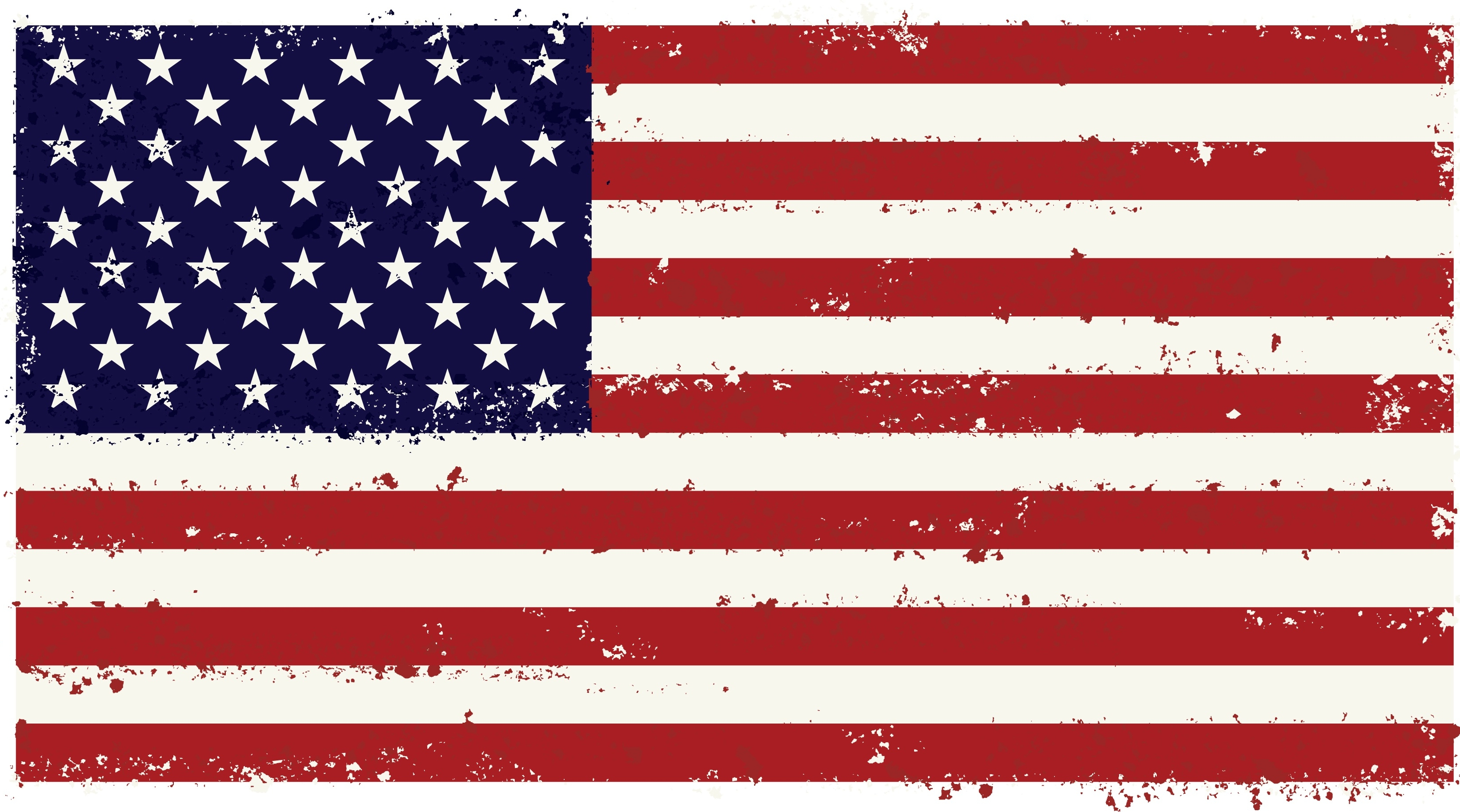 American flag textured clipart