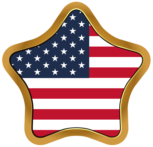 Star flag clipart picture library library USA Flag Star PNG Clip Art Image | Gallery Yopriceville - High ... picture library library