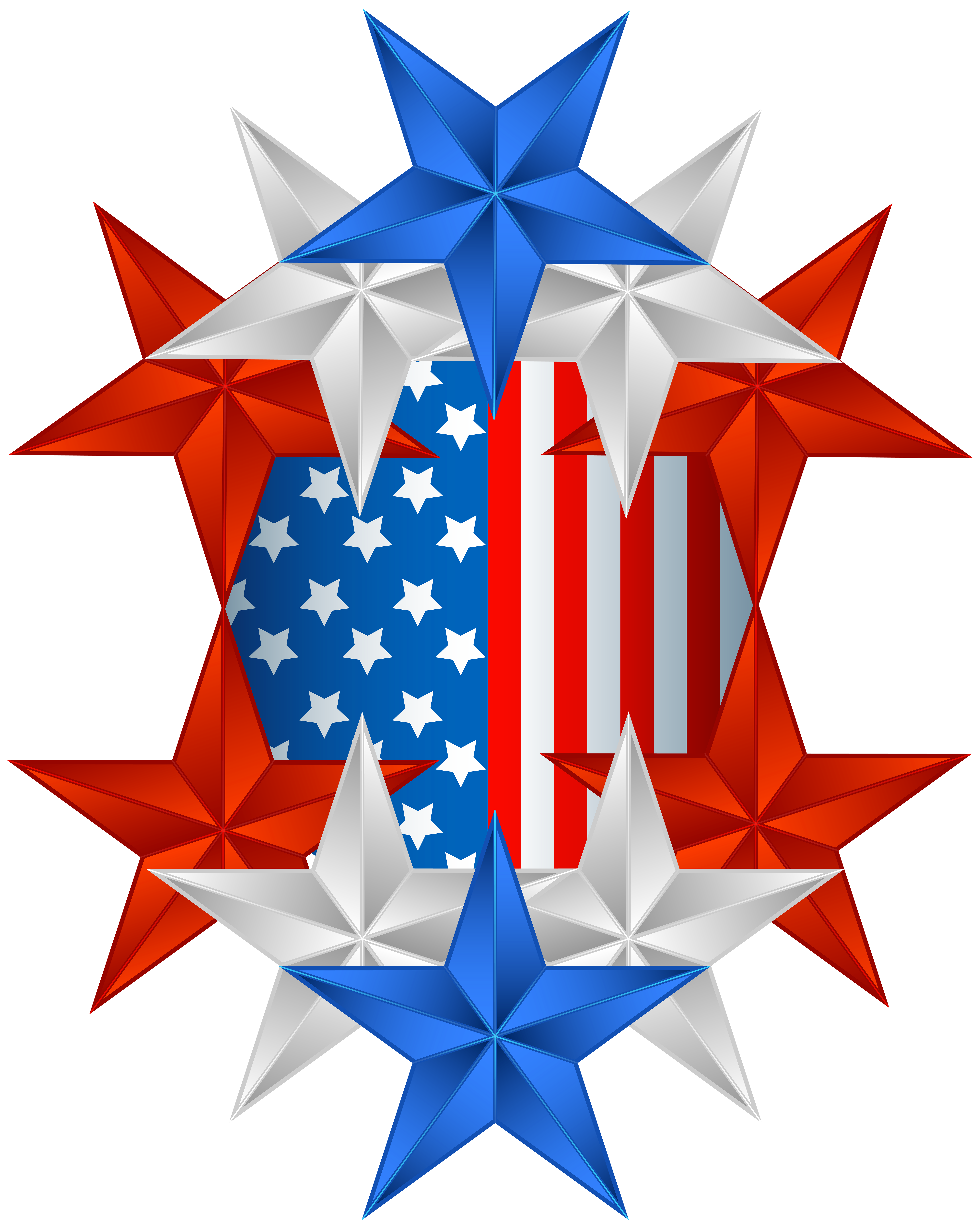 American flag star clipart clip art American Flag Decor PNG Clip Art Image   Gallery Yopriceville ... clip art