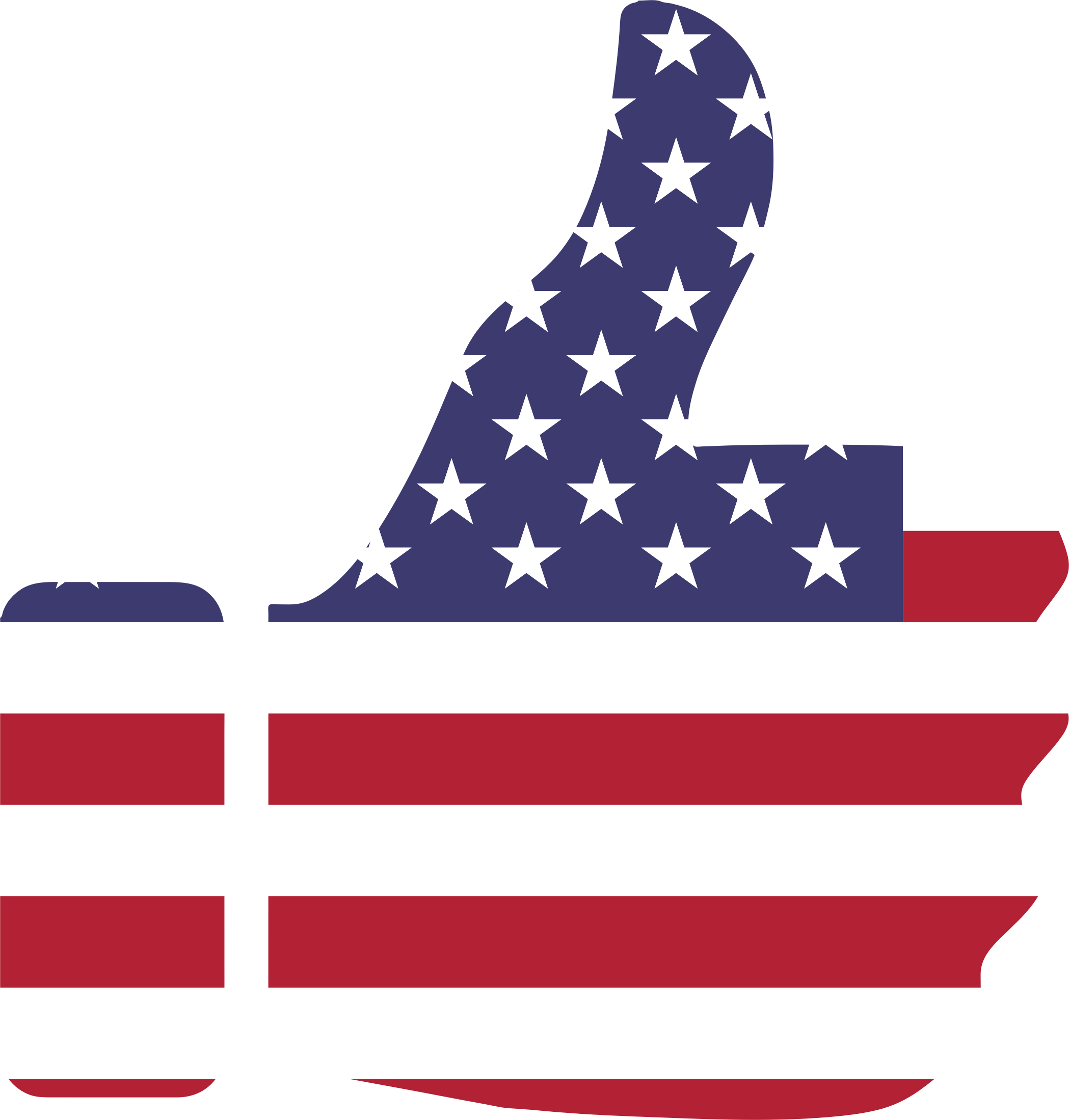 American flag star clipart png free library Clipart - Thumbs Up American Flag png free library